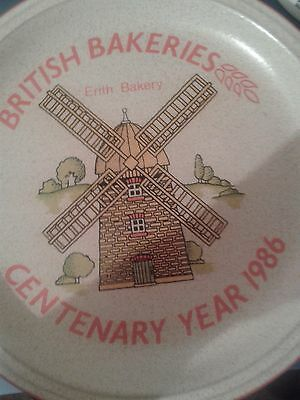 British Bakeries Centenary Year Plate 1986.Erith Bakery.Denby Pottery limited ed