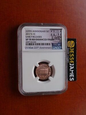 2017 S Lincoln Penny Ngc Sp70 Rd Enhanced Finish Early Releases 225Th One Cent