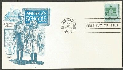 Us Fdc 1979 American Schools 30C Stamp Marg Cachet First Day Of Issue Cover