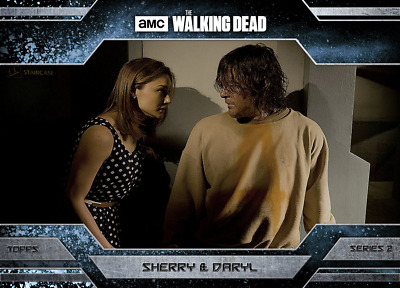 Topps Walking Dead Allegiance Series 2 Daryl Dixon and Sherry ICE VARIANT