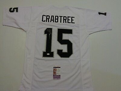 MICHAEL CRABTREE autographed signed Raiders white Jersey JSA Authentic