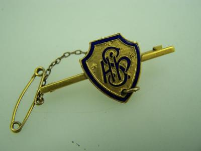 Enamel Adelaide High School Badge with safety chain              2753