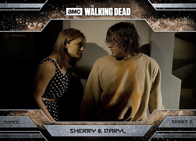 Topps Walking Dead Allegiance Series 2 Daryl Dixon and Sherry DUST VARIANT