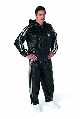 Everlast Hooded Sauna Suit ( 2 Piece Black ) - Boost Your Workout ! Med to XL Sz