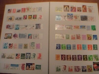 world stamps mixed used off paper