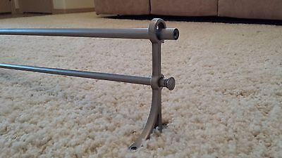 Pottery Barn Standard Double Rod Pewter .75 XL 96-120 NO FINIAL-SLIGHT DAMAGE