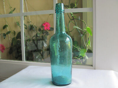 Rare Colored Whiskey Cylinder Bottle Lip And Base Edge Chips Beautiful Color!!!!