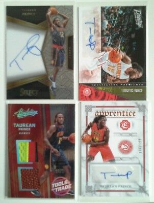 16-17 Absolute Select Excalibur Taurean Prince Rookie Patch Auto 4 Card Lot /25