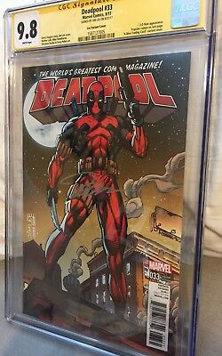 CGC SS 9.8 Marvel Deadpool 33 Jim Lee Card Variant Cover Signed