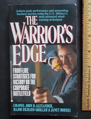 WARRIOR'S EDGE JEDI TRAINING BOOK, by Colonel Alexander, Mentalist Martial Arts