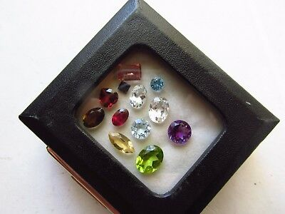 Natural Loose Mixed Faceted Gemstone Parcel Lot Green Tourmaline Red Andesine