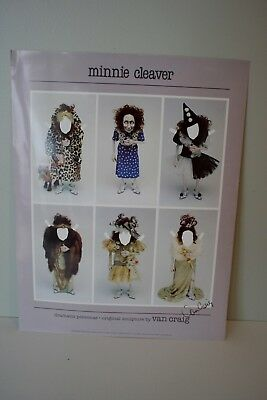 Van Craig paper doll poster, Minnie Cleaver, signed, OOAK