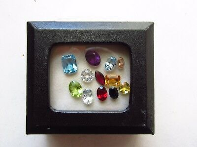 Natural Loose Mixed Faceted Gemstone Parcel Lot Heliodor Royal Blue Sapphire Pin
