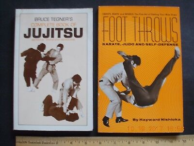 2x JIU JITSU, JUDO, KARATE Book, Holds Throws, Locks, Self-Defense Kempo Kung Fu