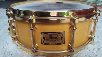 Pearl Masters Custom Gold Snare Drum & Case - MMX-5114G - RARE