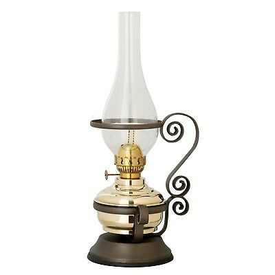 New Brass Table Kerosene oil lamp Lighting & Metal stand  - Italian Made
