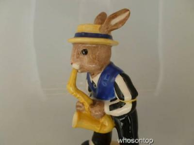 Royal Doulton Bunnykins - Saxophone Player Bunnykins - DB 186 Ltd Ed Box