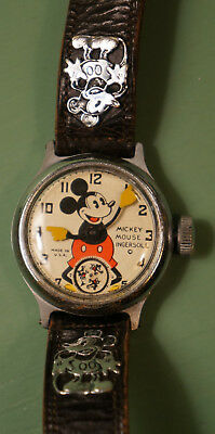 1930s Ingersoll Mickey Mouse wristwatch with original strap.