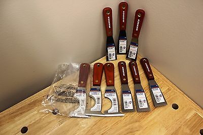 Warner Putty Knife and Glazier Knife Bundle. 608, 609, 10745 (Lot of 9)