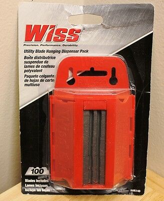 Wiss RWK14D .025-Inch 100pc Heavy-Duty Utility Knife Blades w Dispenser LOT OF 6