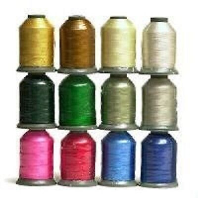 12 Large Spools WINTER/HOLIDAY COLORS 1100 yards each Embroidery Machine Thread