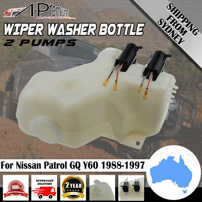 A-Premium Wiper Washer Bottle for Nissan Patrol GQ Ford Maverick 88-97 w/ 2Pumps