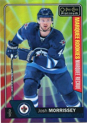 16/17 O-Pee-Chee Opc Platinum Rainbow Color Wheel Rookie Josh Morrissey *41713