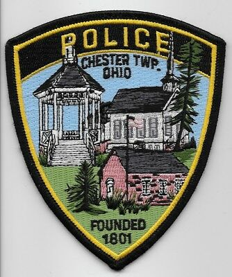 Neat! CHESTER TWP Police State of OHIO OH Shoulder Patch