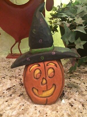 Halloween Decor - Lori Miller - Whispering Pines - Pumpkin Figurine