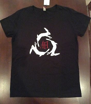 Ladies Womens AFI Decemberunderground black fitted t shirt NWT size Large