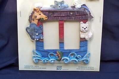 Noah's Ark Switch Plate for Nursery or Child's Room - Bible Animals Baby Light