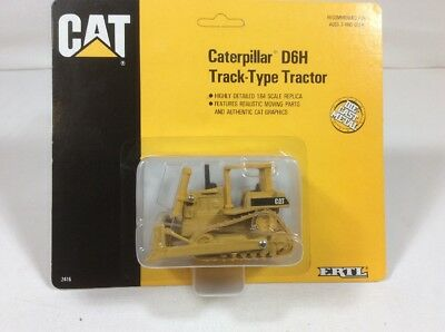 Caterpillar 1:64 D6H Track Type Tractor Die Cast Metal Construction Toy By ERTL