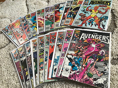 Copper Age Avengers 20x Comic Lot 258-277 Complete Run VF/NM High Grade KeyIssue