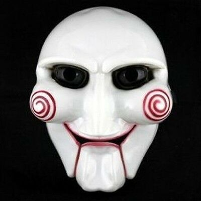 Halloween Party Cosplay Billy Jigsaw Saw Puppet Mask Masquerade Costume Prop XB