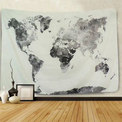World Map Wall Tapestry Wall Hanging  Living Room Bedroom Indian Wall Decor HOT