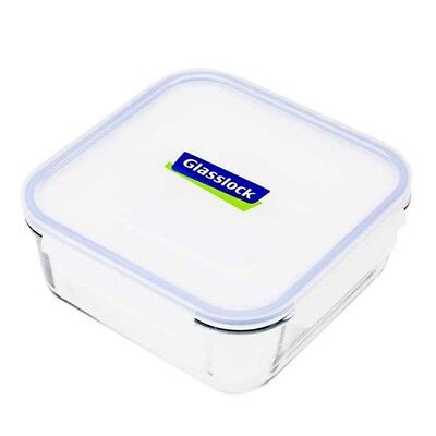 Glasslock Square Tempered Glass Food Container 2.6L BPA FREE RRP$24.95