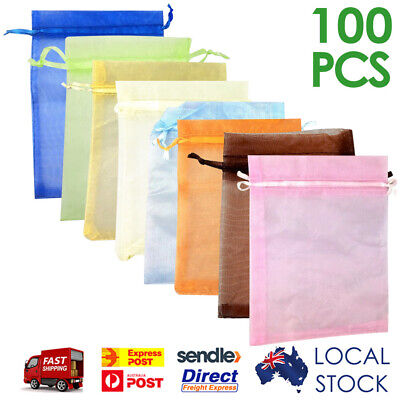 50/100 pcs Organza Bags Wedding Christmas Candy Jewellery Gift Packaging Bag
