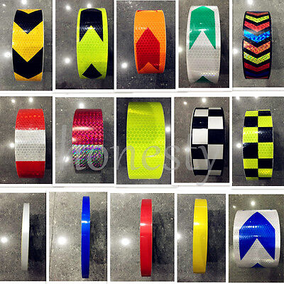 30CM/3M/5M Reflective Safety Warning Conspicuity Tape Film Stickers Multicolor