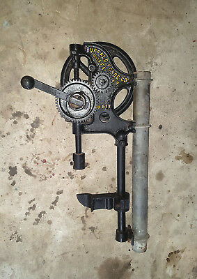 Vintage Pedestal Hand Drill Buffalo Forge Co Buffalo NY USA No.611