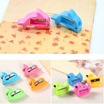 3Pcs Candy Color Pencil Sharpener Student Kids Gift Stationery School Supplies