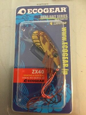 Ecogear ZX40 Metal Blade Fishing Lures YellowBelly Redfin Trout Tiger Prawn 420