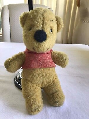"Vintage Musical Disney Gund Winnie The Pooh Bear Plush Soft Toy ""works""!!"