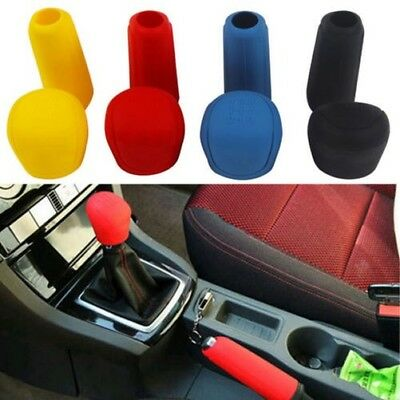 2pc Silicona coche GEAR HEAD POMO CAMBIO + FRENO Funda antideslizante Sweet