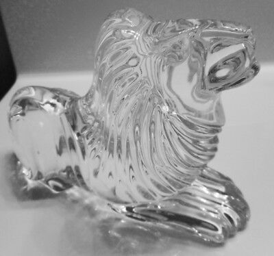 Ireland Waterford Crystal Lion Figurine - Signed With Green Sticker