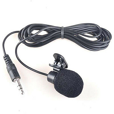Pro 3.5mm Hands Free Clip On Mini Lapel Mic Microphone For PC Notebook Laptop