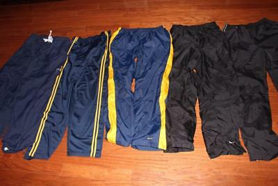 Lot Of 5 Adult Mens Nike Windpants Athletic Pants Reebok Head Black Navy Large