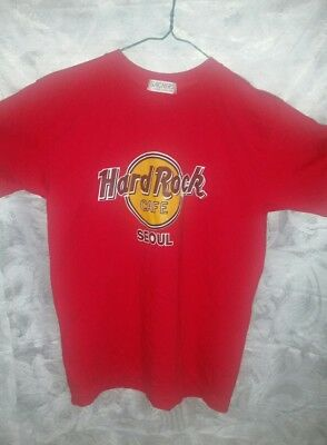 Sachers Hard Rock Cafe Seoul Red Grafic T-shirts Unisex Adult Size Medium