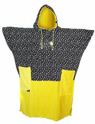 Poncho All In Bumpy Print Yellow Fluo
