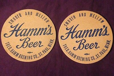 Two Hamm's Beer Coasters