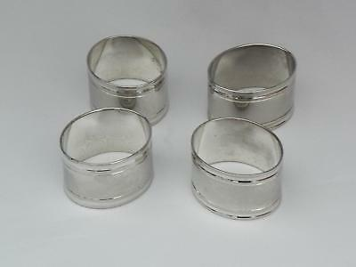 VINTAGE -  Silver Plate  **NAPKIN RINGS** (4) - Excellent Condition